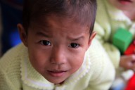 19 Oct 2011 - A child at the WFP, UNICEF-supported Provincial Baby Home in Hamhung City, DPRK.